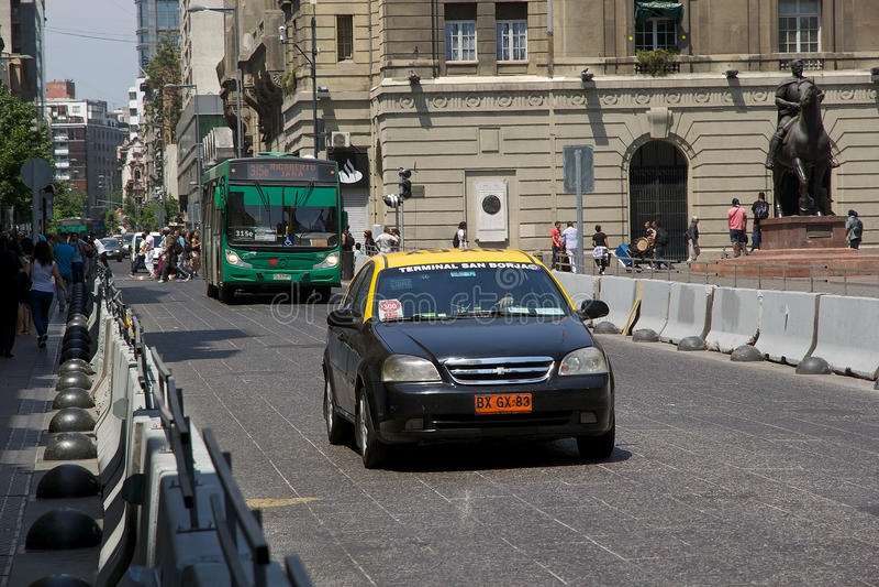 Openbaar vervoer in santiagode Chili, Chili stock foto's
