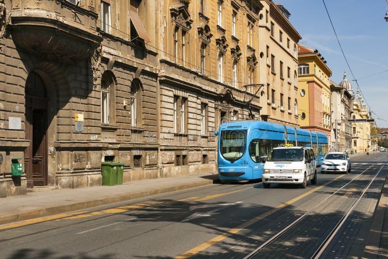 Openbaar vervoer in Zagreb royalty-vrije stock foto