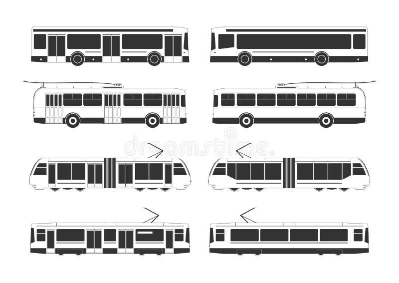 Openbaar vervoerinzameling stock illustratie