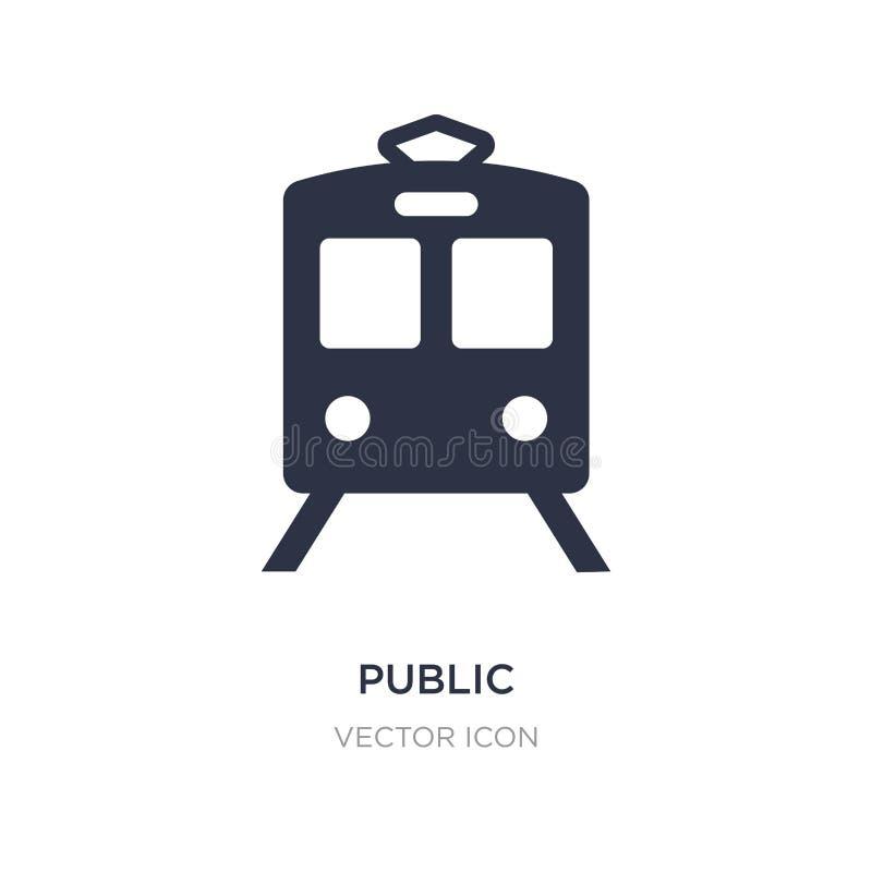 openbaar vervoerpictogram op witte achtergrond Eenvoudige elementenillustratie van Vervoerconcept vector illustratie