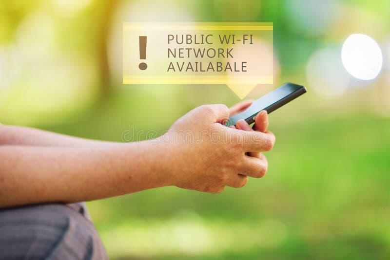 Openbaar WiFi-beschikbaar netwerk stock afbeeldingen