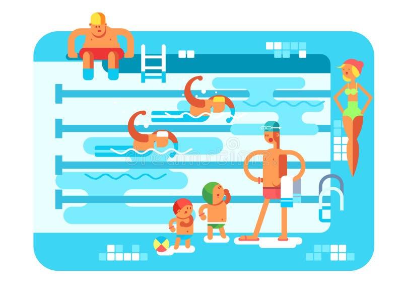 Openbaar zwembad royalty-vrije illustratie
