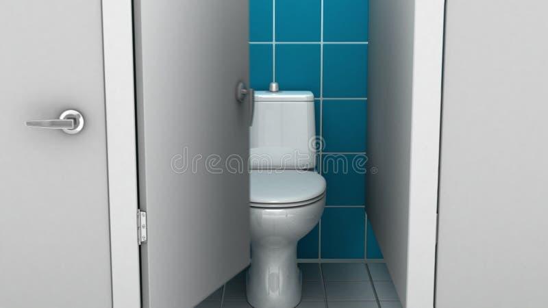Openbare badkamers, 3d illustratie stock illustratie