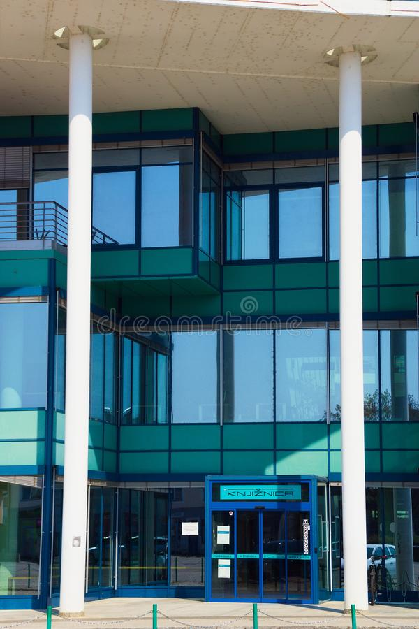 Openbare bibliotheek in Murska Sobota, Slovenië royalty-vrije stock afbeelding