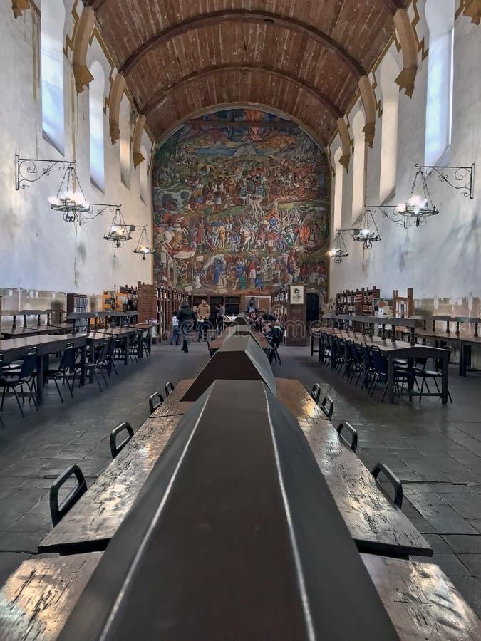 Openbare bibliotheek in Patzcuaro, Mexico royalty-vrije stock foto's