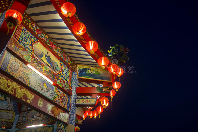 Openbare Chinese tempel royalty-vrije stock foto