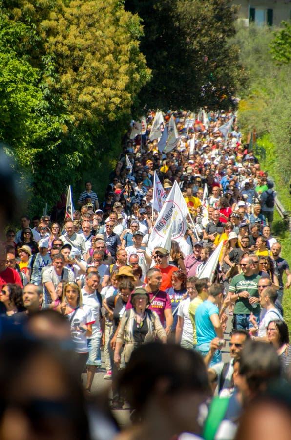 Openbare gebeurtenis van Movimento de Italiaanse politieke partij 5 van Stelle (m5s) stock foto's