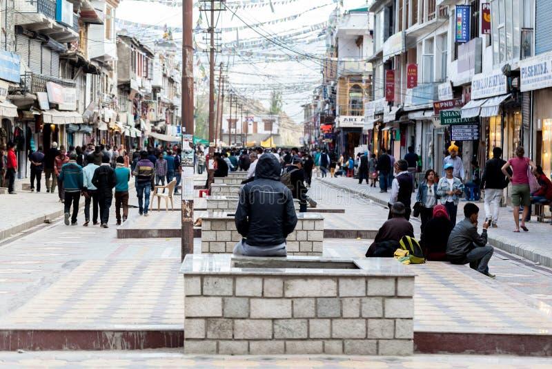 Openbare markt in Lah Ladakh stock foto's