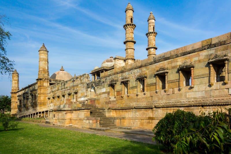 Openbare moskee in Champaner royalty-vrije stock foto's