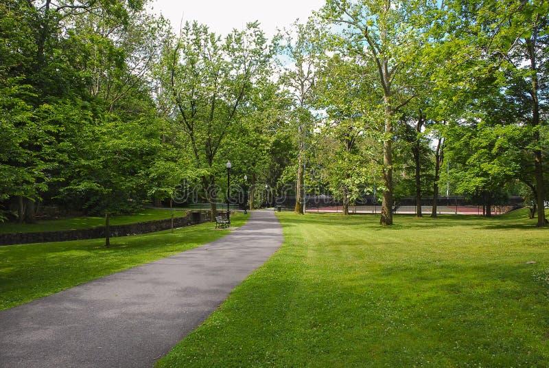Openbare Park het Lopen Weg royalty-vrije stock foto