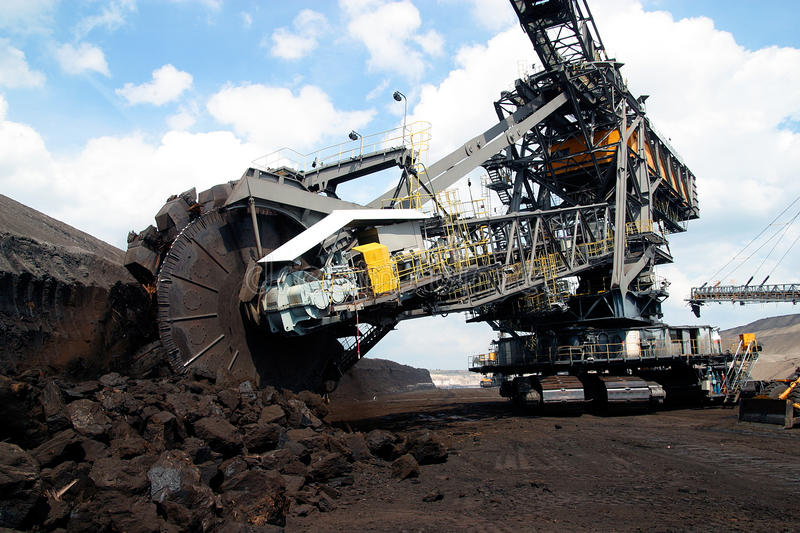 Opencast mining royalty free stock images