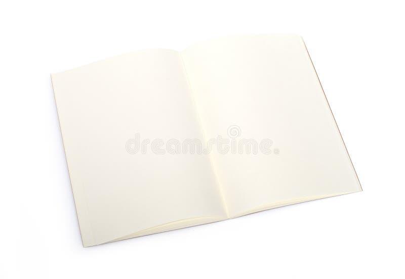 Opened blank book stock photo