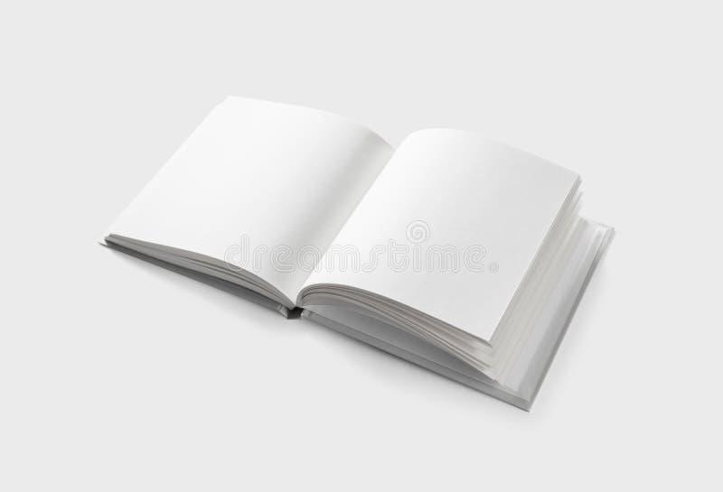 Opened blank brochure stock photo