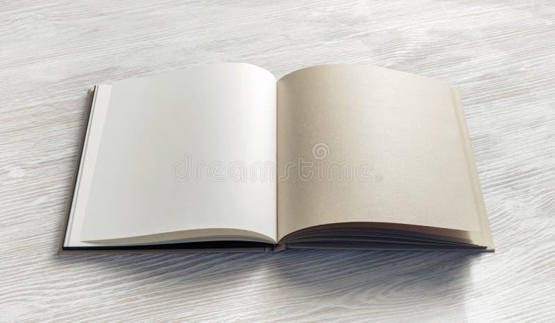 Opened blank brochure royalty free stock photos