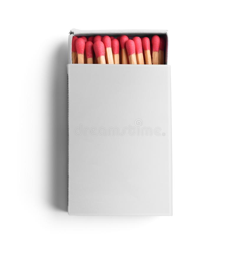 Opened blank matchbox stock image