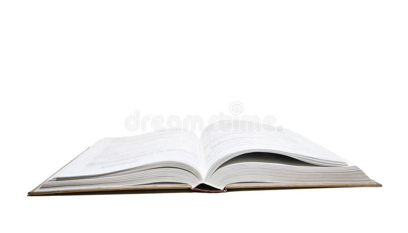 Opened book. At white background stock image