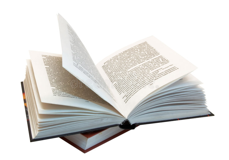 The Opened Book Atop Of Other Book Stock Image