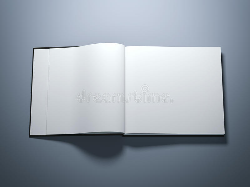 Opened book with blank pages. Isolated on grey royalty free stock image