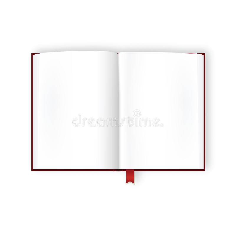 Opened Book With Blank Pages stock illustration