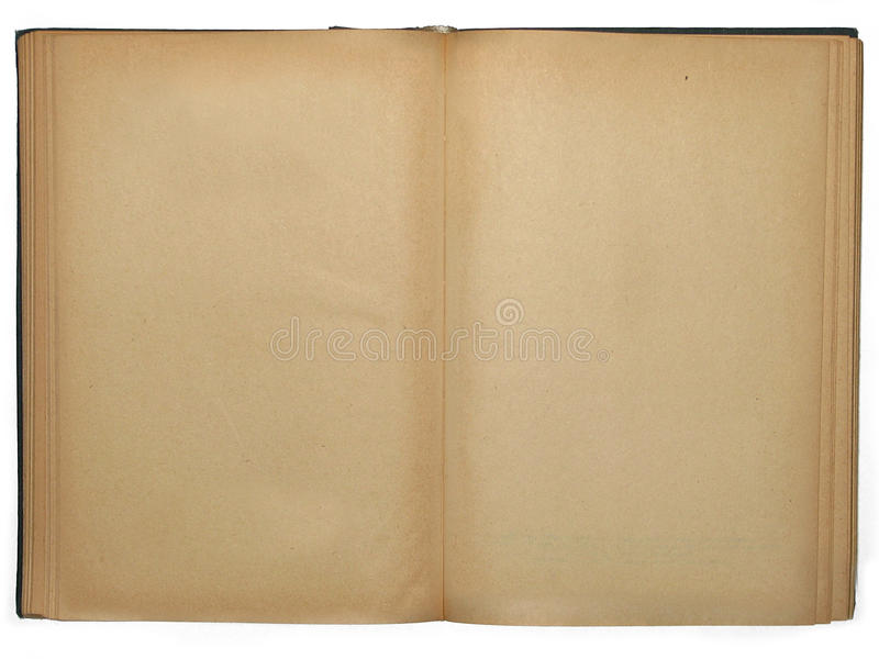 Opened book with empty pages stock photography