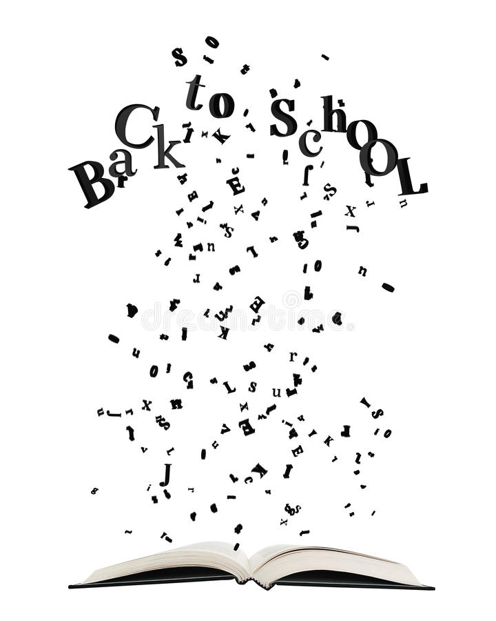 Download Opened Book With Letters Bursting Out Of I Stock Illustration - Image: 31930720