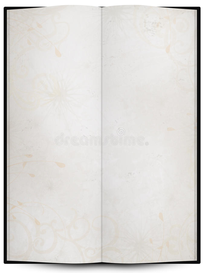 Download Opened Book Or Menu With Grunge Background Texture Stock Illustration - Image: 26326770