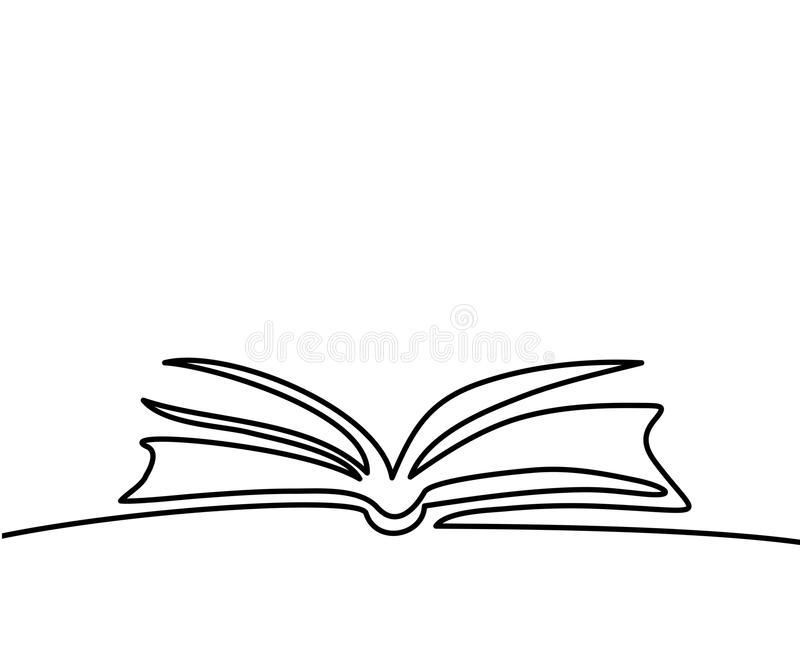 Opened book with pages isolated on white royalty free illustration