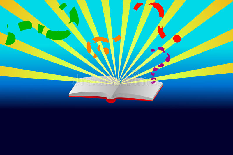 Download Opened book with sun rays stock vector. Illustration of blue - 20591112