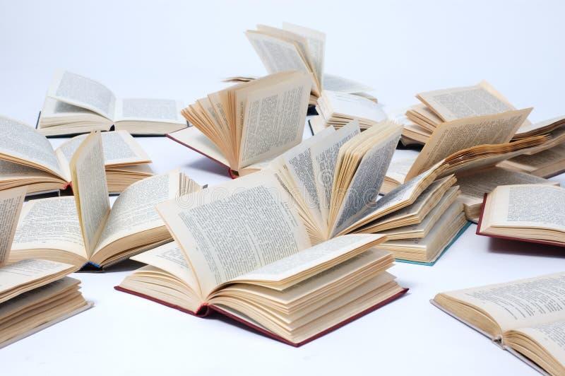 Opened books royalty free stock photo