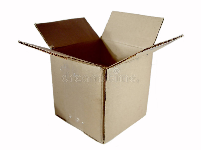 Opened Box Stock Photo