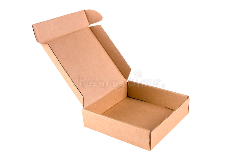 Opened box royalty free stock photos