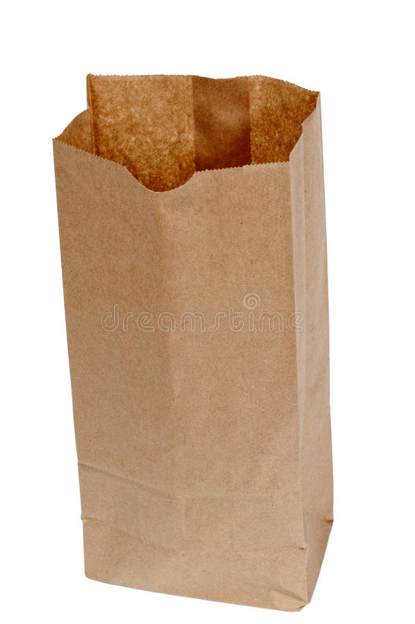 Download Opened Brown Bag stock image. Image of sack, vertical - 22748203