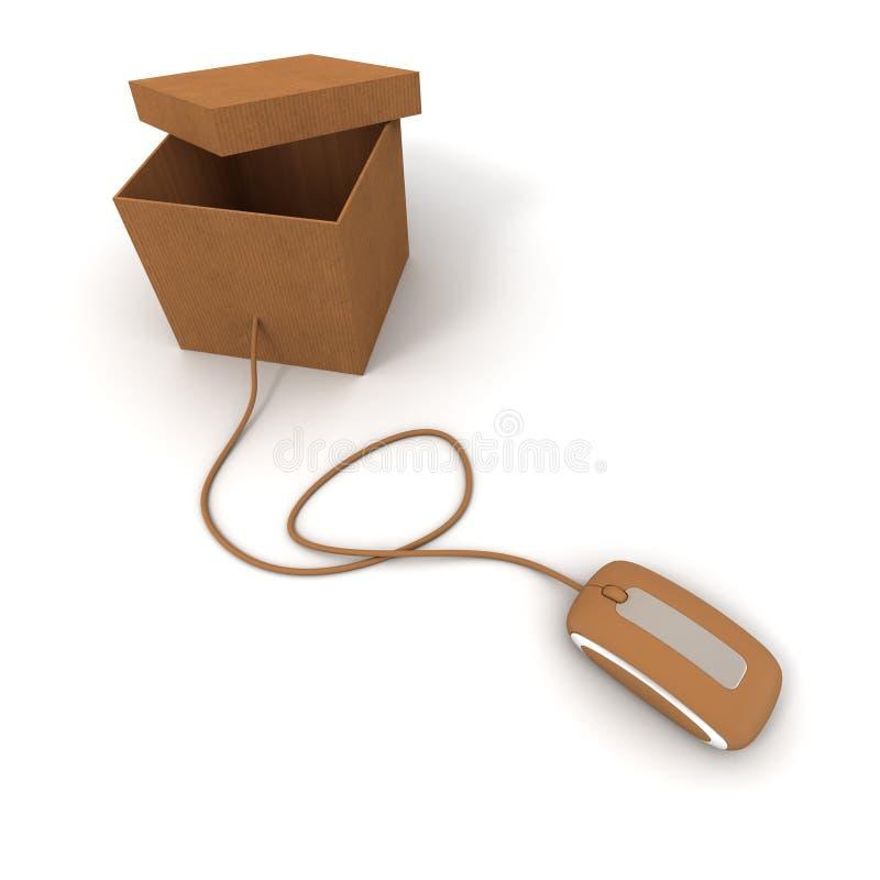 Download Opened brown parcel online stock illustration. Illustration of cable - 11148041