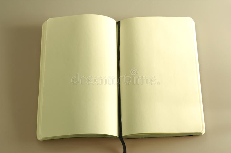 Opened business notebook stock photography