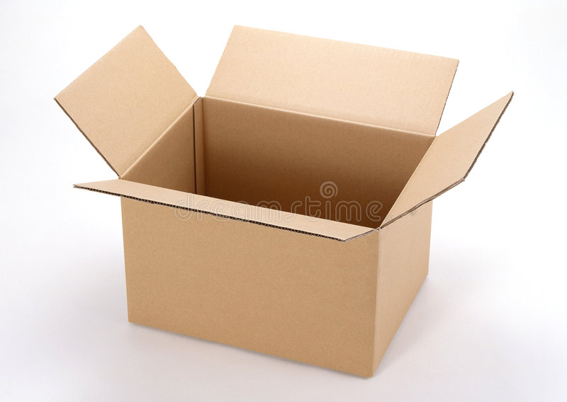 Download Opened cardboard boxes stock image. Image of brown, card - 4832271