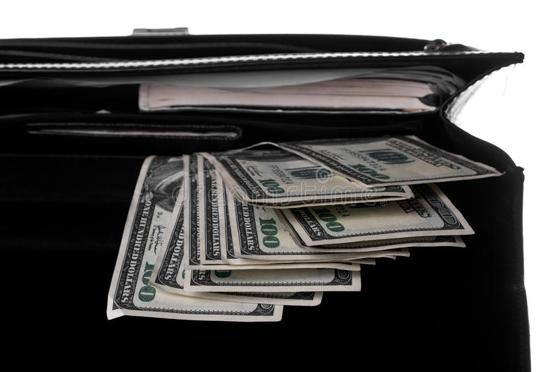 Opened case stock photography