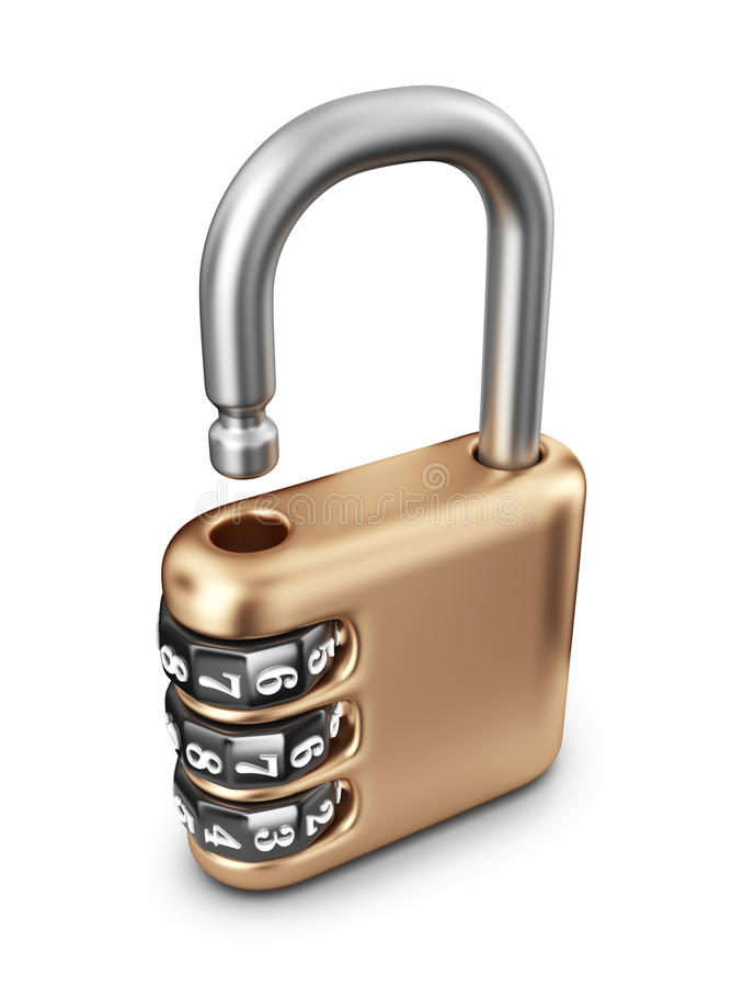Download Opened Code Lock. 3D Icon Stock Image - Image: 33475971