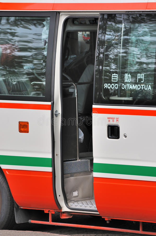 Download Opened door of mini bus stock photo. Image of door, enter - 17661606