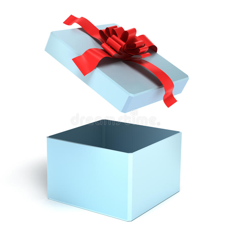 Download Opened empty gift box stock illustration. Image of package - 14855625