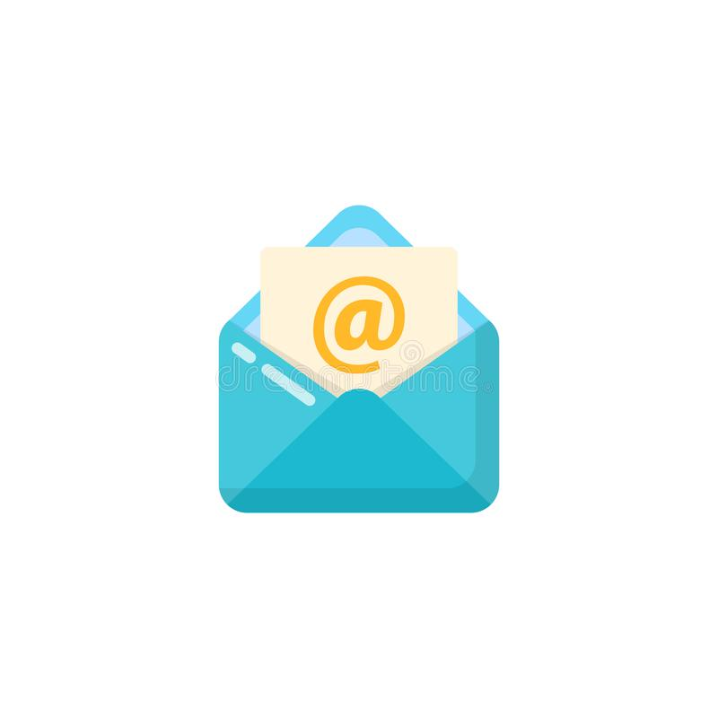 Opened envelope and document icon vector design. opened mail icon design. Opened envelope and document icon vector designs. opened mail icon design, app vector illustration