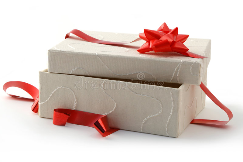 Opened gift royalty free stock photo