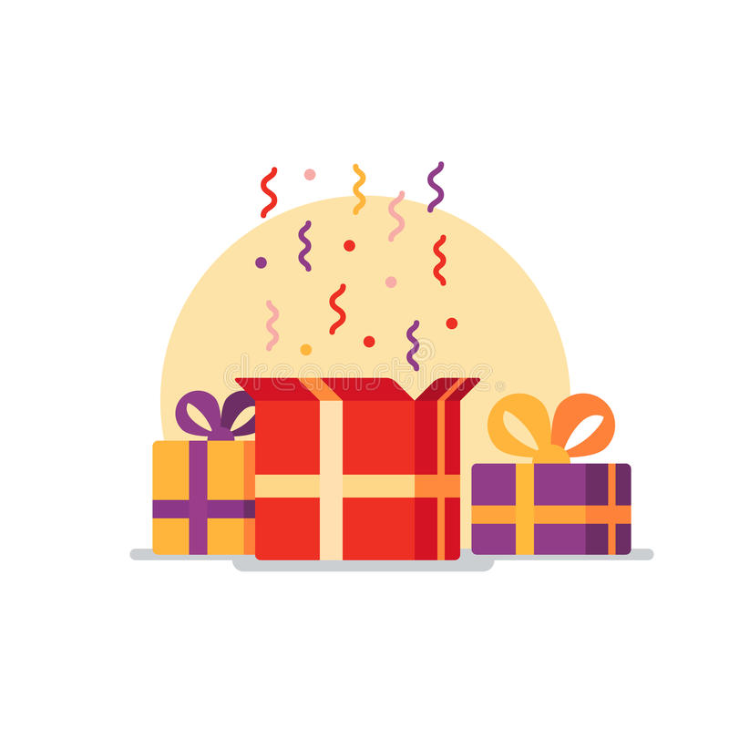Superior Download Opened Gift Box, Surprise Concept Stock Vector   Illustration Of  Prize, Celebration: