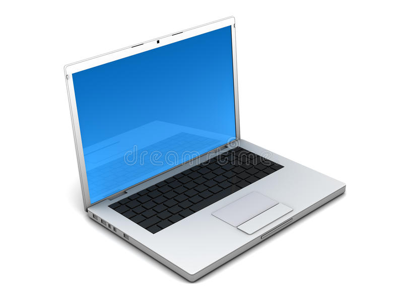 Download Opened grey notebook stock illustration. Image of wireless - 9986301