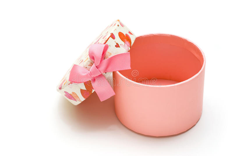 Opened Hand-made Pink Gift Box Royalty Free Stock Images