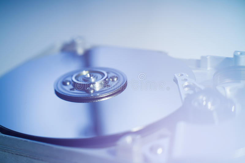 Opened Hard Disk Drive stock photography