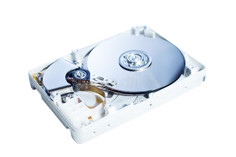Opened Hard Disk Drive stock images