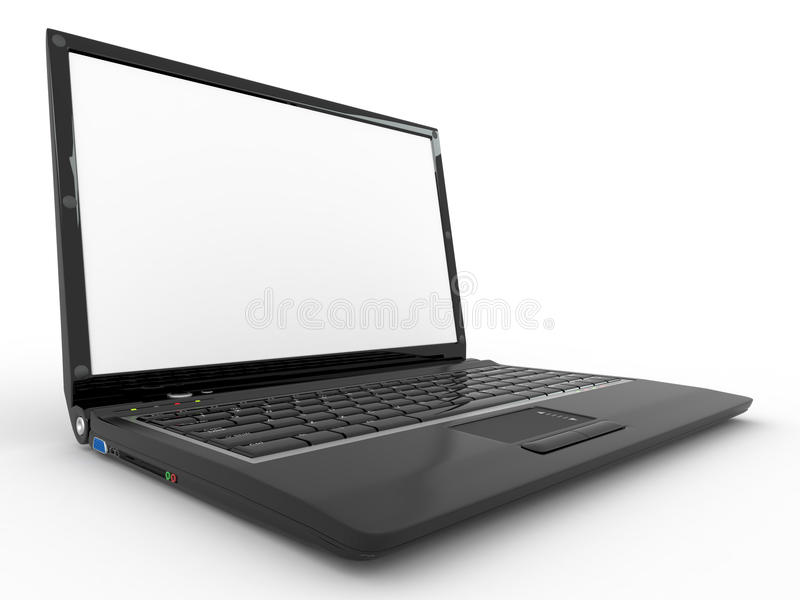 Download Opened Laptop On White Isolated Background Royalty Free Stock Photo - Image: 17294255