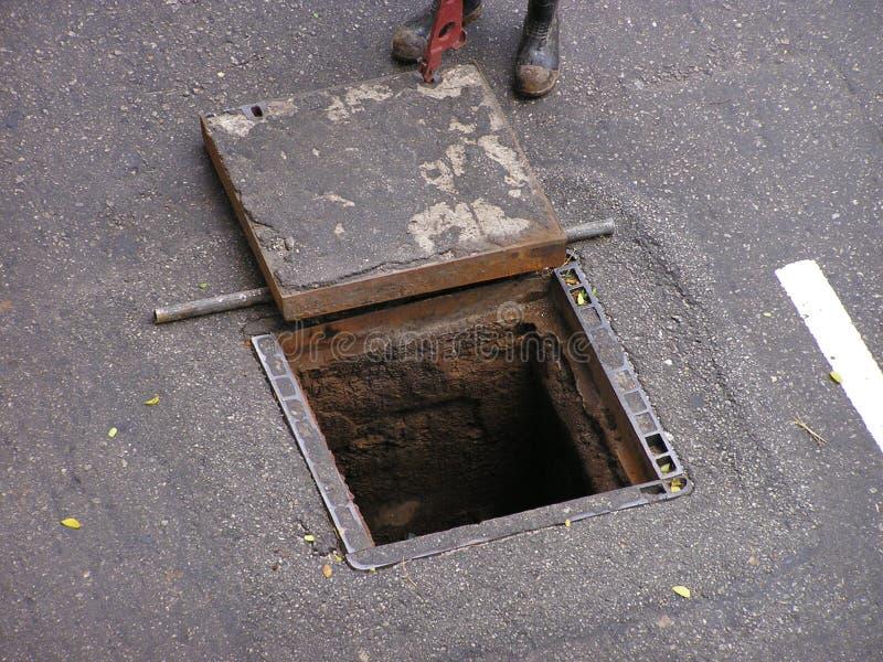 Download Opened manhole stock photo. Image of utility, construction - 8584