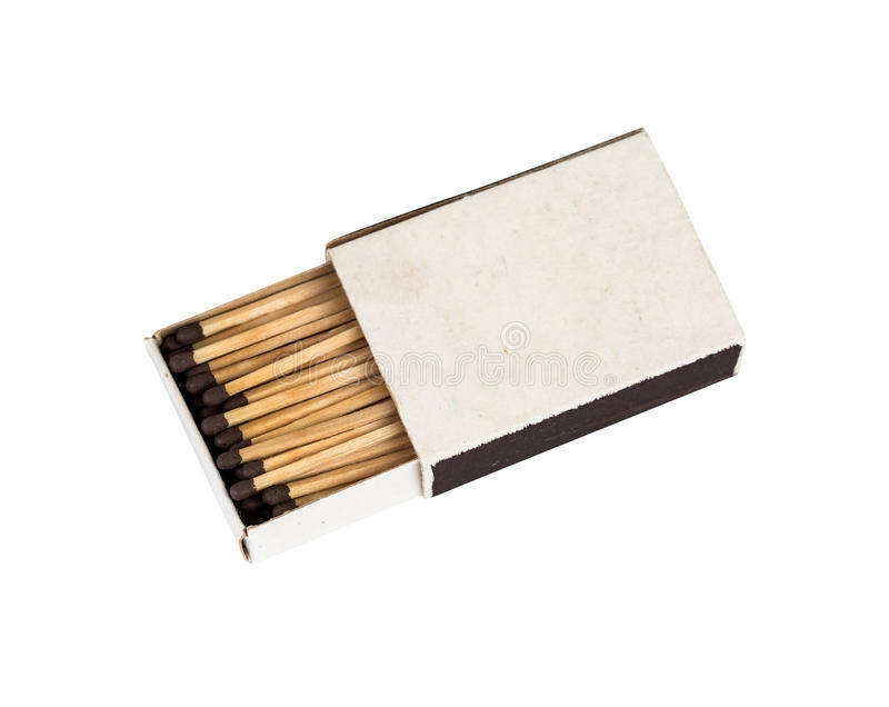 Opened matchbox isolated royalty free stock images