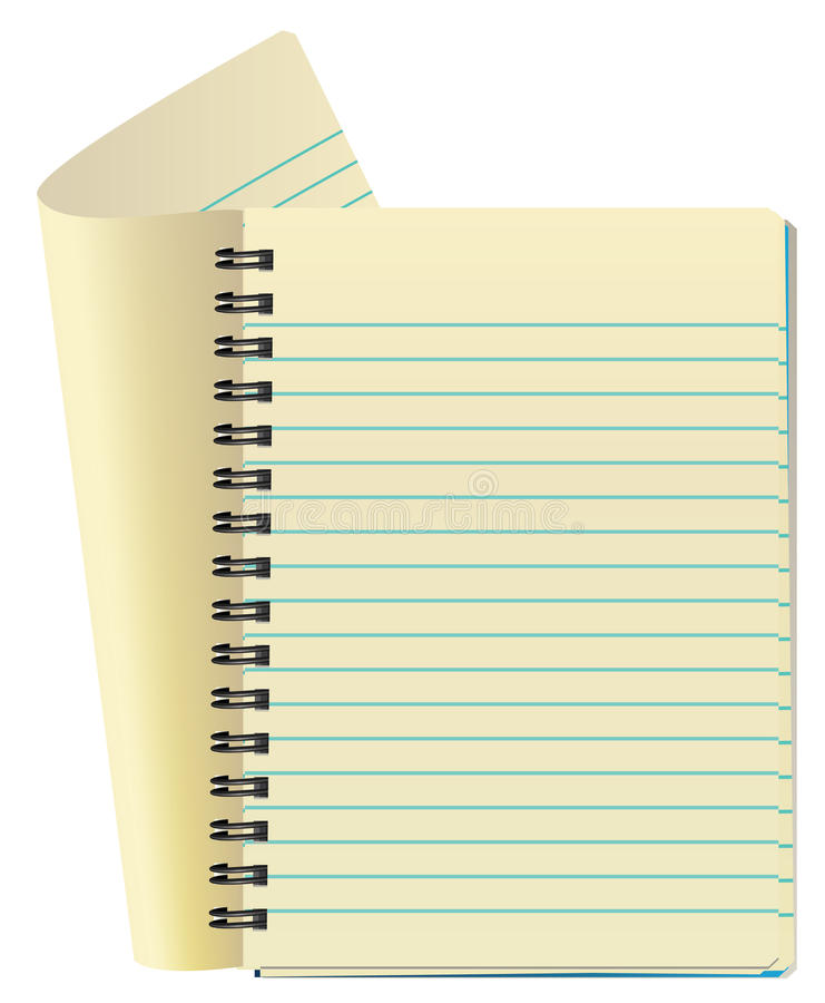 Opened notepad vector illustration